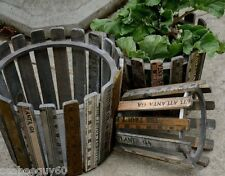 Planter Pot Wooden Yardstick Planter Pot Set of 3 Wood Garden Flower Pot New