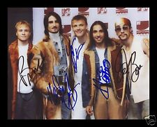 BACKSTREET BOYS AUTOGRAPHED SIGNED AND FRAMED PP PHOTO POSTER