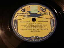 78 rpm - OZZIE NELSON & HIS ORCH. 2 INSTRUMENTALS ON 1937 BLUEBIRD B-6974