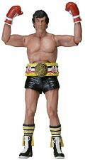 Rocky 40th Anniversary Series 1 Rocky Action Figure With Belt Black Trunks 7