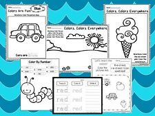 250 Printed Preschool Learn Your Colors Worksheets. Homeschool. Preschool. Colo