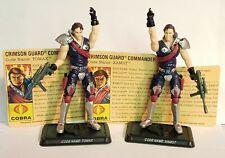 Gi Joe 25TH Tomax & Xamot Cobra complete