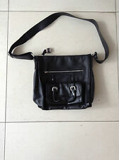 Classic Luana Black Leather Handbag Shoulder Bag In Excellent Cond Hardly Used