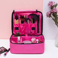 Women Large Makeup Bag Cosmetic Case Storage Handle Travel Organizer Artist Kit