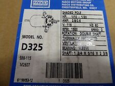 Fasco D325 Motor 1/10-1/30HP 115V 60Hz 1500RPM 2 Speed