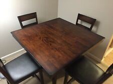 Used - High Top Square Bar table and 4 chairs - Local Pickup Only