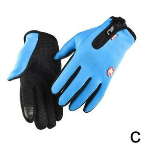 Motorcycle Gloves Unisex Thermal Warm Cycling Bicycle Bike Outdoor.C