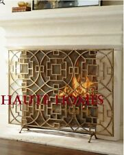 NEW Horchow FRENCH CHINOISERIE CHIPPENDALE MESH Fireplace Screen Modern