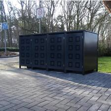4 Mülltonnenboxen Modell No.5 Anthrazit komplett RAL7016 für 120Liter Mülltonnen