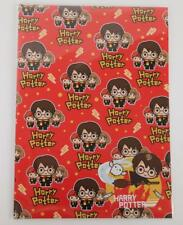 HARRY POTTER 2 SHEETS OF GIFT WRAP AND 2 GIFT TAGS HERMIONE RONALD WEASLEY NEW