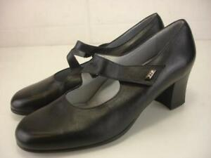 Women's 10 10.5 41 BeautiFeel Katherina Pumps Mary Jane Black Leather Shoes Heel