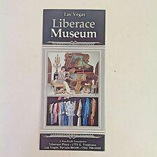 Vintage Souvenir Color Liberace Museum Brochure Las Vegas History Clothes Cars