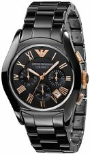 NEW EMPORIO ARMANI AR1410 MENS ROSE GOLD CERAMICA WATCH - 2 YEARS WARRANTY