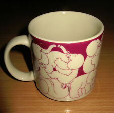 Rare Vintage 1984 Taylor & NG Mug Elephants Orgy Naughty Pink Violet Japan 11 oz