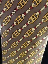 100% AUTH HERMES SILK TIE CLASSIC CHAINE D'ANCRE PATTERN NO 6770A
