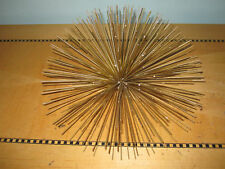 Small Mid Mod atomic spiky metal gold wall decor anemone 50's Jeres era