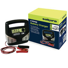 SAKURA CAR BATTERY CHARGER 12 VOLT 4 AMP UP TO 1.2 L CARS - FREE TRACKED POSTAGE