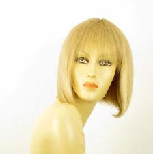 perruque femme 100% cheveux naturel mi-longue blonde ref JACKIE  22