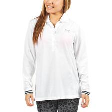 Women's PUMA Golf Polo Shirt Long-Sleeve White size XS (T14) $60
