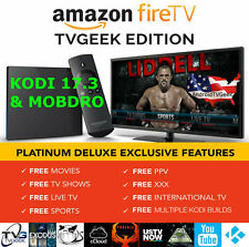 AMAZON FIRE TV BOX 4K ALEXA MOVIES SHOWS LIVE TV SPORTS TVGEEK 17.3