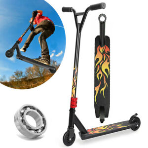 Stunt Scooter Push Kick Scooters Kids City Street 360° Spin 2 Wheels Fixed Bar