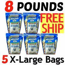 MAUNA LOA DRY ROASTED MACADAMIA NUTS - X5 (FIVE) - 25 oz Bags = 8 POUNDS! HAWAII