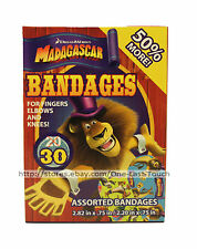 DREAM WORKS 30pc Assorted Bandages MADAGASCAR Sterile FINGERS+ELBOWS+KNEES New!