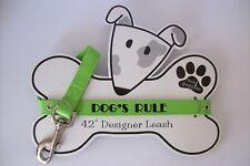 "MUD PUPPIES New Puppy Dog Leash 42"" Plastic Green"
