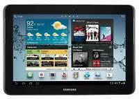 "Samsung Galaxy Tab 2 10.1"" P500 (Sprint + WiFi) Tablet w/ Cracked Glass Screen"