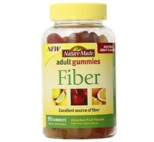 Nature Made Fiber Adult Gummies, Assorted Fruit 90 ea (Pack of 3)