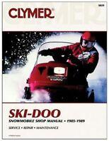 Ski-Doo Snowmobile Manual 1985-1989: Clymer S829