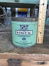1940's Vintage Similac A Food For Infants M & R Dietetic Lab Litho Tin Can