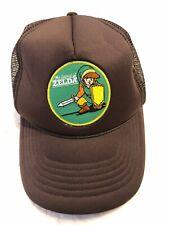 Legend Of Zelda Nintendo Video Game 80's Brown Trucker Hat Retro Snapback Cap