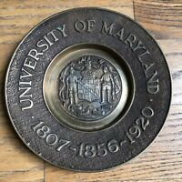 Vintage University of Maryland Brass Plate Made in Korea
