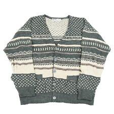 Vintage Woolen Cosby Cardigan | Jumper Knit Knitwear 3D Sweater 90s Hip Hop Wool