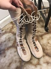 Dkny Lace Up Suede Tall Boots Size 6