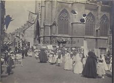 Dinant Procession Instantané Belgique Vintage argentique 1903