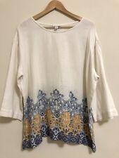 Pure Jill  White Floral Kimono Top Blouse Sz XL