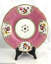 Antique c.1810 English Porcelain Cabinet Plate Dish  ~ Worcester or Chamberlain