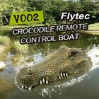 Flytec V002 2.4G Remote Control Electric Racing Boat Crocodile Head RC Spoof Toy