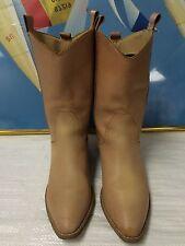Womens Sam & Libby dark tan mid- calf cow boy boots 6.5B