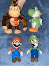 Super Mario Bros Plush Donkey Kong Mario Luigi Yoshi Keychain Zipper LOT