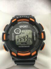 Men's S-Sport Digital Quartz  Chronograph Alarm Day & Date EL Light Sports Watch