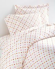 Garnet Hill Polka-Dot Percale Bedding Twin Set