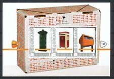 PERSOONLIJKE POSTZEGELS VELLETJE - POSTEX 2012-12 BRIEVENBUSSEN / LETTERBOXES