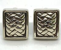 1996 Kieselstein Cord Sterling Silver Weave Clip Earrings. Lot 89.