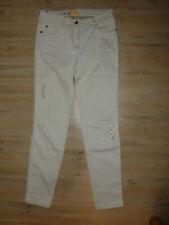 Hose Jeans beige Biba Crisca Pailletten 36 S