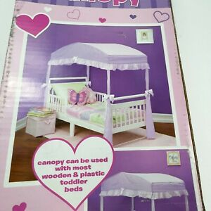DELTA Girls Bed Canopy for Child Toddler Bed Purple NEW