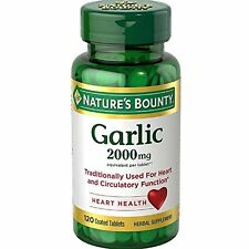 Nature's Bounty Garlic 2000 Mg, 120 Odorless Tablets Each