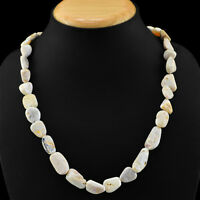 240.00 CTS NATURAL AAA UNTREATED AUSTRALIAN OPAL BEADS NECKLACE - LOWEST PRICE
